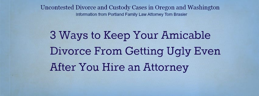 amicable divorce after you hire your family law attorney