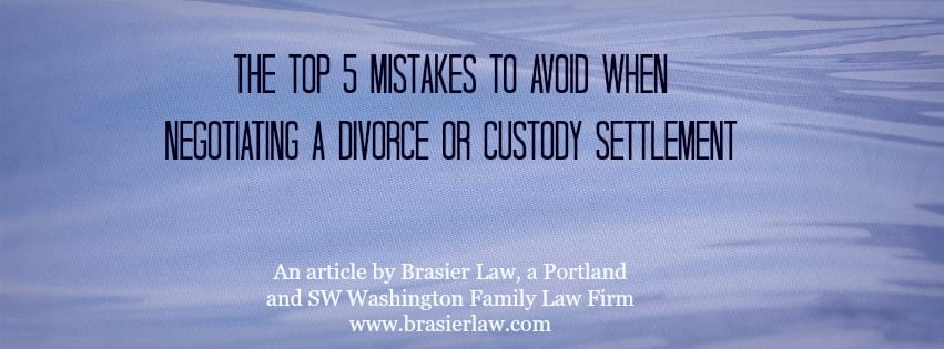 5 mistakes to avoid in divorce settlement