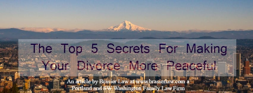 Portland Family Lawyer tells you the top 5 tips for keeping divorce peaceful