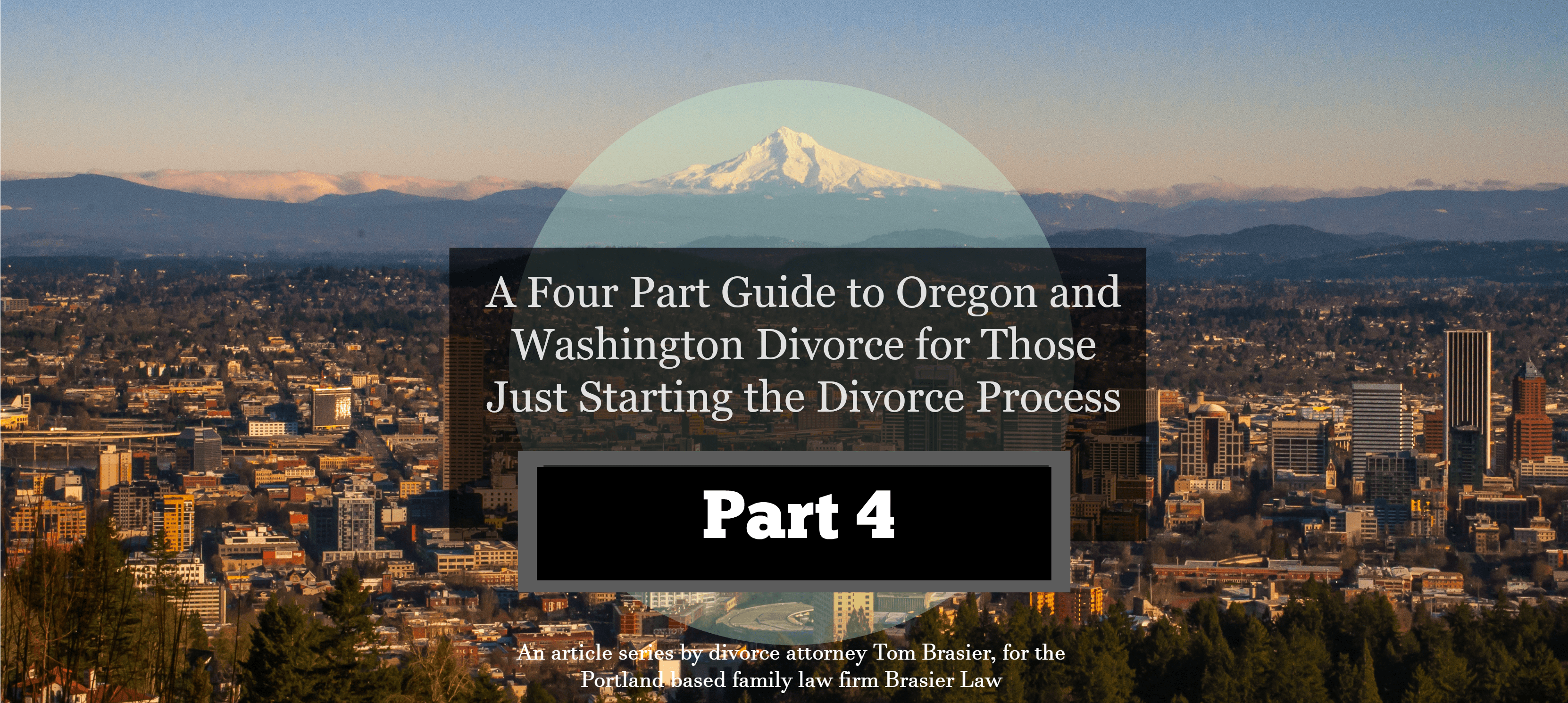 Getting a divorce in Oregon and Washington