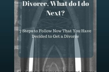 Just decided to get a divorce, here is what to do next.