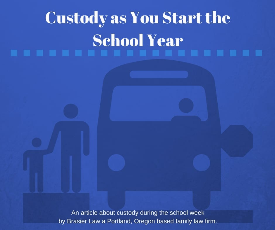 The school year and custody in Oregon and Washington