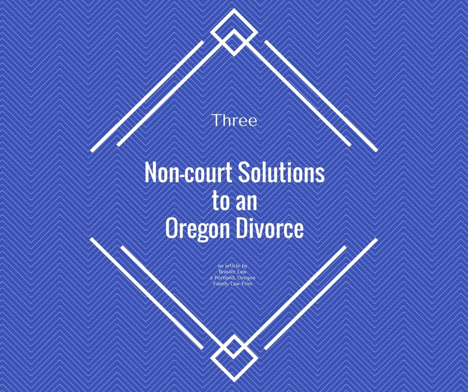 Non-court solution to Oregon divorce