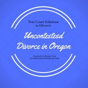 Uncontested divorce in Oregon