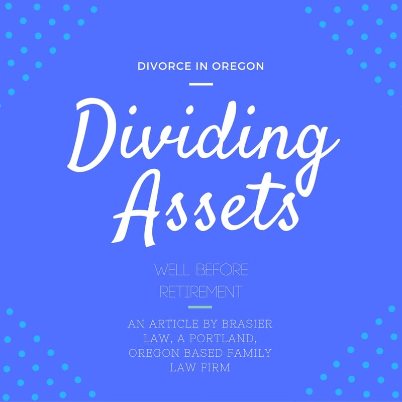 When getting divorced dividing assets is one of the biggest issues. This is part 1 discusing the younger years well before retirement.