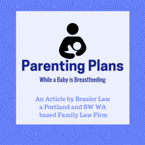 What are the challenges particular to creating a parenting plan when a baby is still breastfeeding?