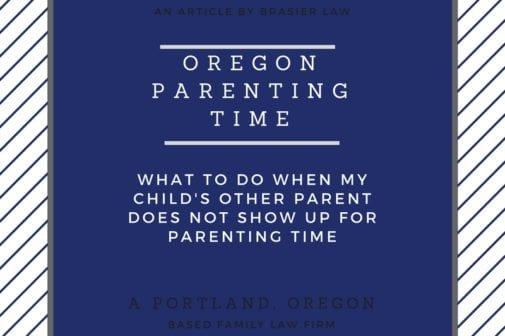 Oregon Parenting Time
