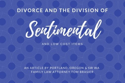 Dividing sentimental and low cost items in a divorce