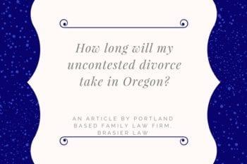 Oregon uncontested divorce