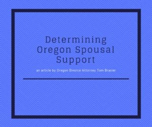 Oregon Spousal Support