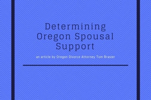Oregon Spousal Support