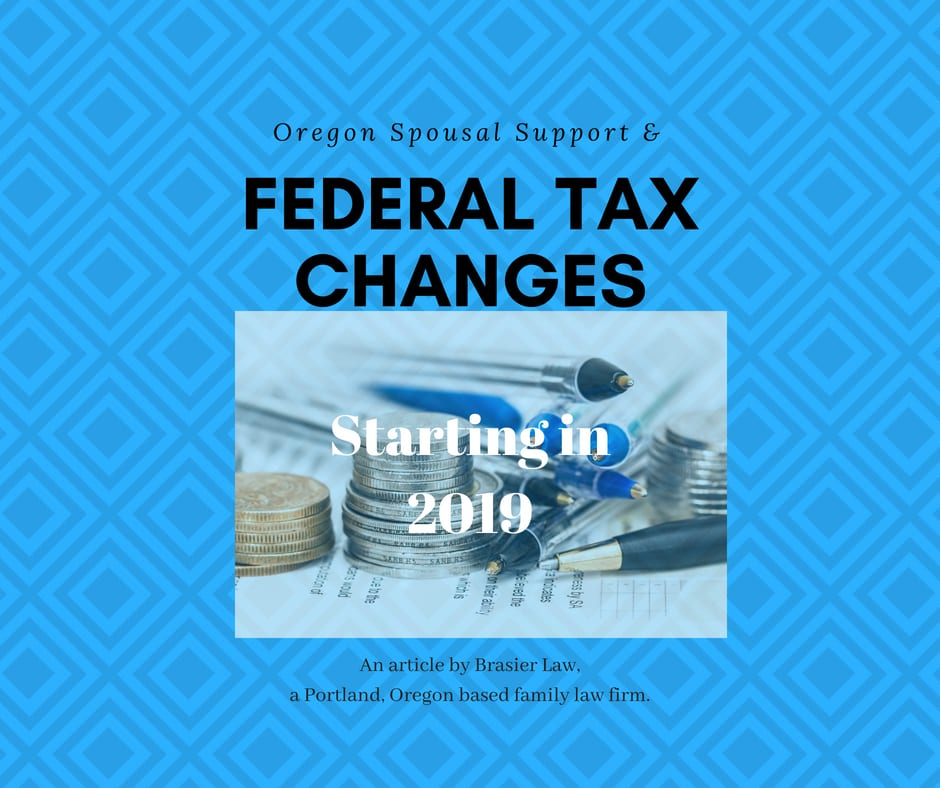 Oregon spousal support and federal taxes