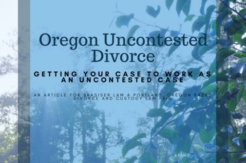 Making an uncontested divorce work for your case
