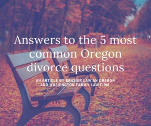Oregon divorce questions answered