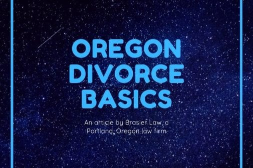 Portland, Oregon divorce basics