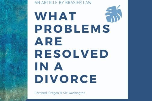 Purpose is to restate the title in a decorative form, What problems are resolved in a divorce.