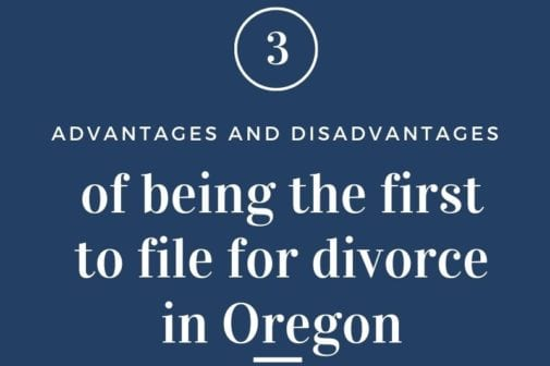filing for divorce in Oregon