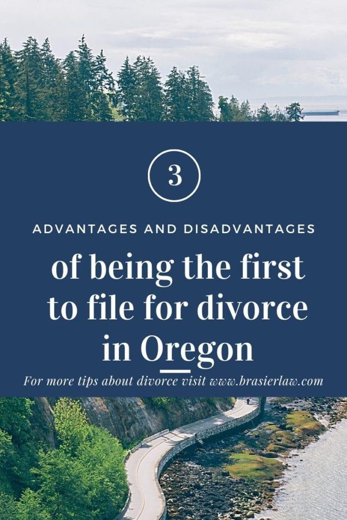 filing for divorce in Oregon