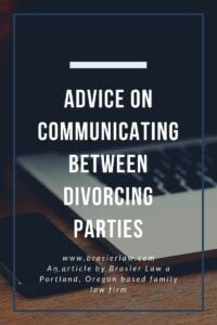 Image with title: Advice on communicating between divorcing parties
